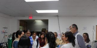 visitan salas de dengue