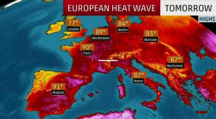 Mapa de ola de calor