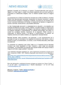 informe de Alta Comisionada de la ONU
