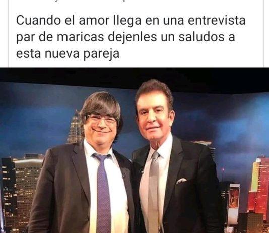 JAIME BAYLY Y SALVADOR NASRALLA , ambos señores de la TV